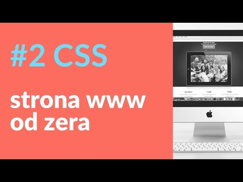 Strona internetowa od zera. Kod CSS dla headera i menu 2/4