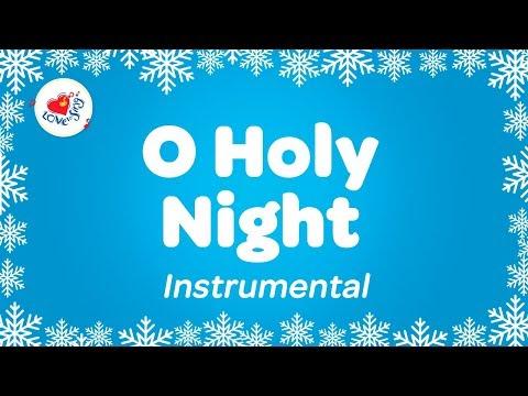 O Holy Night Instrumental Music Carol with Lyrics  Karaoke Christmas Song