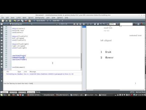 LaTeX tutorial :7 (text formatting) in bangla