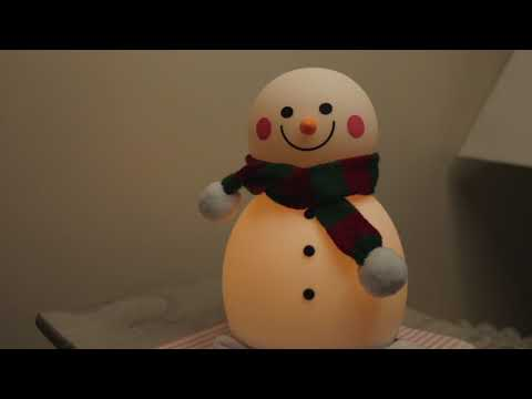 Christmas Gift GoLine Snowman LED Music Night Light