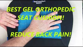 REVIEW Sojoy iGelComfort Coccyx Orthopedic Breathable Gel Seat Cushion (Black)