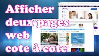 Tutoriel Vidéo : Afficher deux page web cote a cote