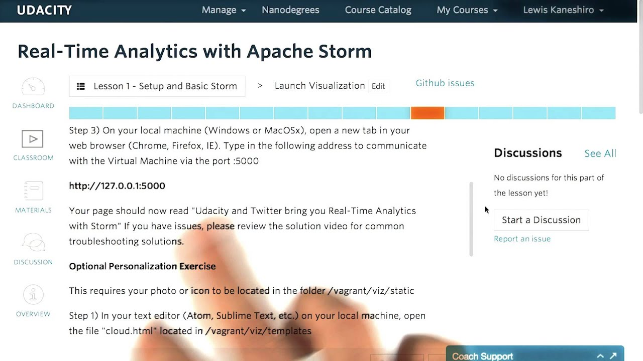 Launch Visualization - Real-Time Analytics with Apache Storm