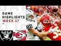 Raiders vs. Chiefs Week 17 Highlights | NFL 2018