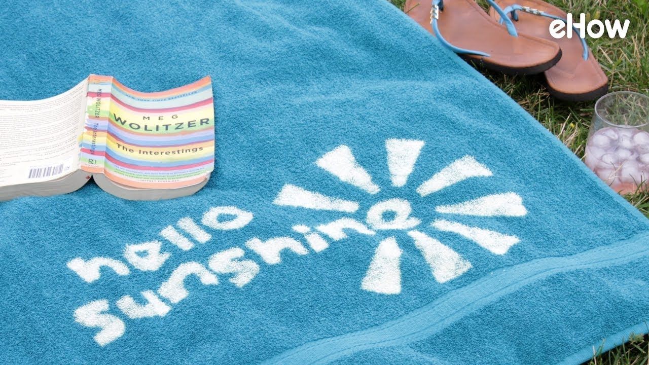 How to Easily Customize a Beach Towel with Bleach