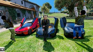 GTA 5 CLINTON KIDS REAL LIFE MOD #3 DRIVING TO SCHOOL IN SUPERCARS!