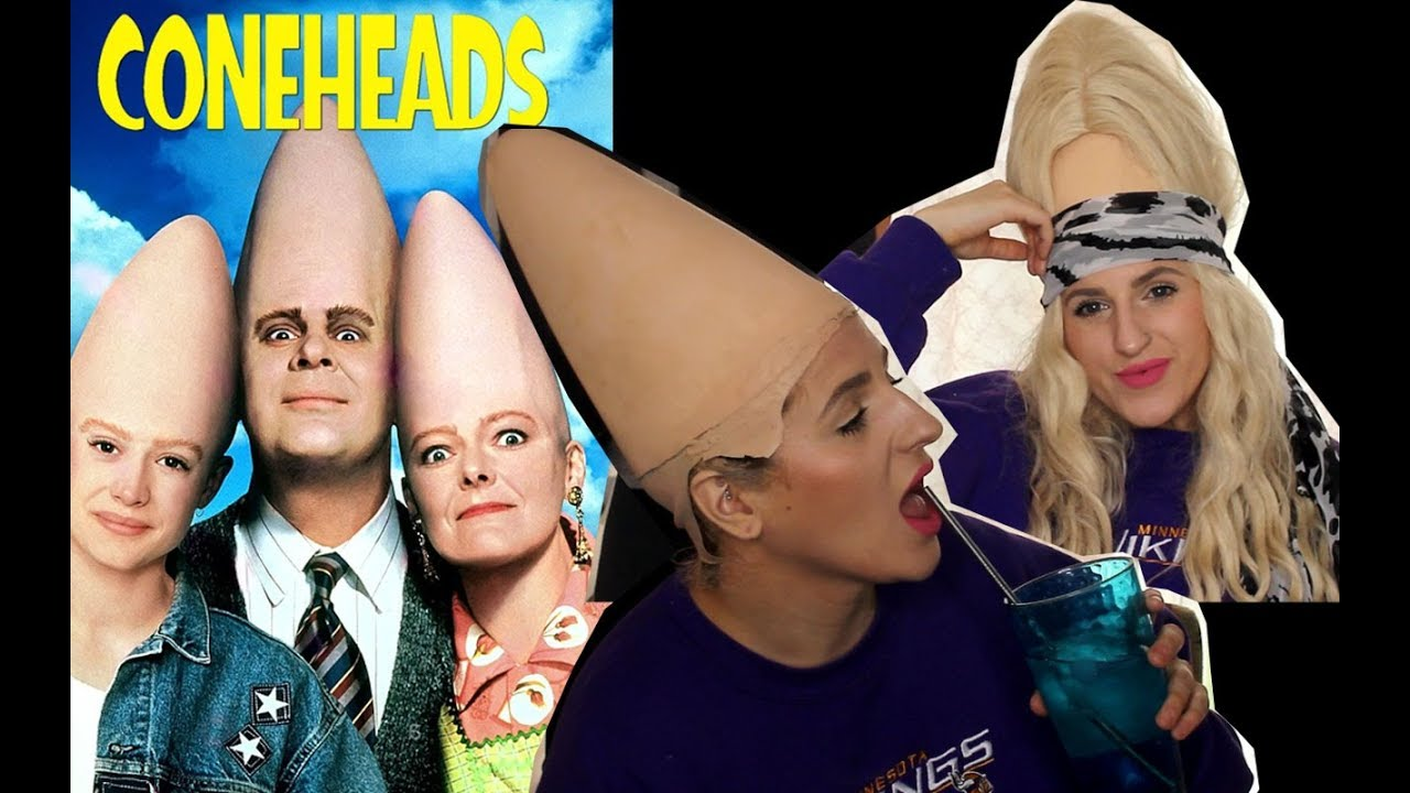 Transforming Myself Into A Conehead Halloween Costume Youtube