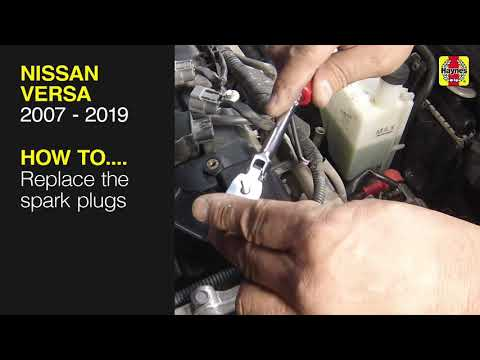 How to Replace the spark plugs on the Nissan Versa 2007 to 2019