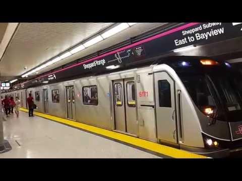 TTC Line 4 TR set 617x departs Sheppard-Yonge Station