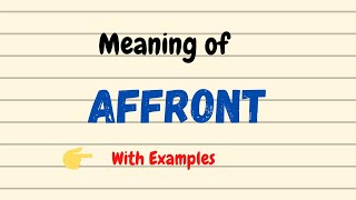 Affront – meaning of the word and example – Words in book reviews   180x320