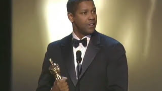 "Denzel Washington winning an Oscar® for ""Training Day"""