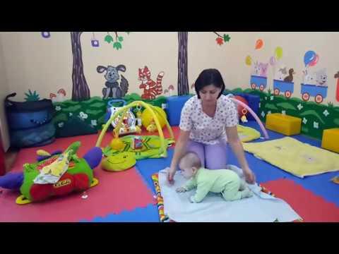 Упражнения для сидения и ползания. Ребенок 5-8 месяцев.  Гиппертонус.