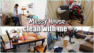 MESSY HOUSE CLEAN WITH ME 2019 | TIME LAPSE SPEED CLEANING MOTIVATION