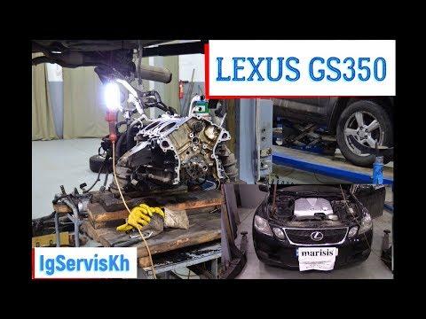 Фото к видео: Ремонт ДВС лексус GS-350 2GR-FSE