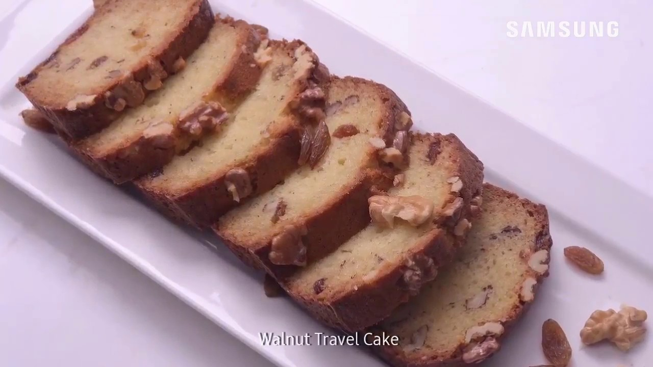 How To Cook Walnut Cake With Samsung Smart Oven Youtube