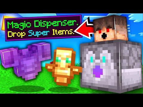 ماين كرافت الدسبنسر يعطي أغراض رهيبة!🔥🤑 - Magic Dispenser