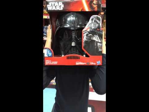 Girl with Darth Vader mask