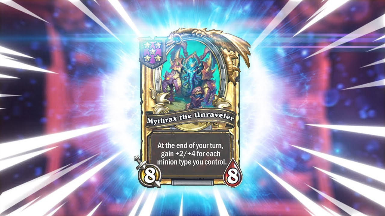 TURN 8 GOLDEN MYTHRAX   Hearthstone Battlegrounds