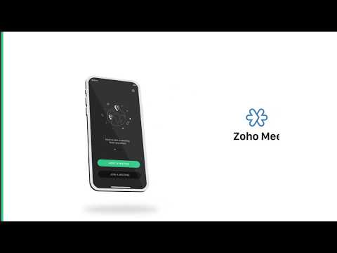 Launch and join online meetings on the go - Zoho Meeting iOS app