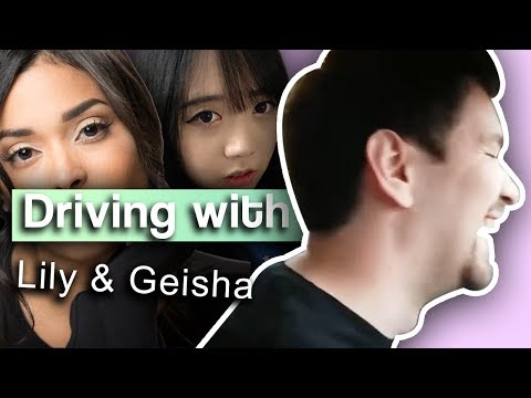 Driving to the Gun Range - with LilyPichu and Geisha Montes