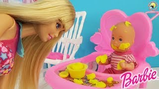 Мультики куклы мамы Барби Штеффи и малыши СБОРНИК 1 Детская комната Маленькие щенки Play Dolls