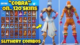 "NEW ""COBRA"" BACK BLING Showcased With 120+ SKINS! Fortnite Battle Royale (BEST COBRA COMBOS)"