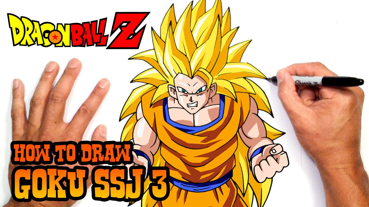 How To Draw Goku Ssj 3 Dragon Ball Z Youtube