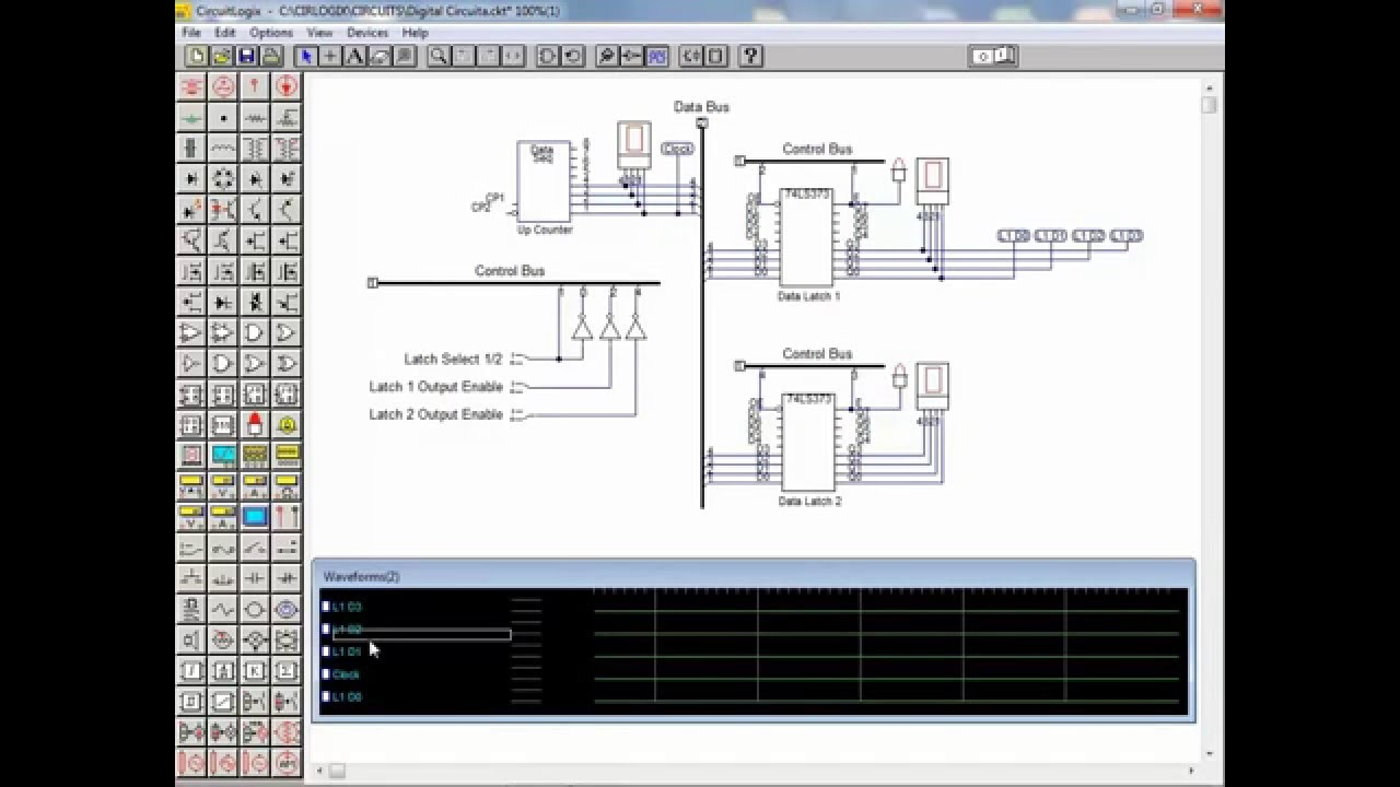 CircuitLogix Tutorial 7 - Digital Circuit Simulation Part 2