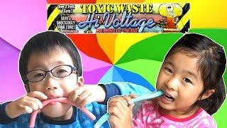 す、すっぱい! ショックなほど すっぱいガム  海外 お菓子 Toxic Waste Hi Voltage Bubble Gum