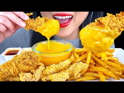 asmr-cheesy-fried-chicken-&-french-fries-(crunchy-eating-sounds)-no-talking-|-asmr-phan