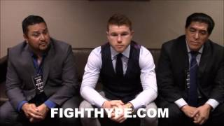 CANELO AGREES WITH MAYWEATHER THAT GOLOVKIN IS