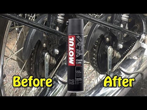 How to use Motul Lube for cleaning the Chain and oiling your Royal Enfield Bike