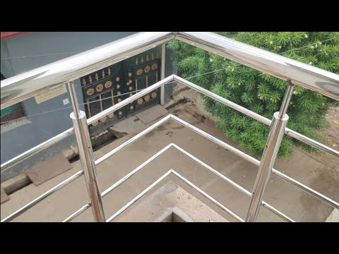 Making A Stainless Steel Simple Four Hollow Pipe Balcony Railing Design Build Steel Balcony Railing Youtube