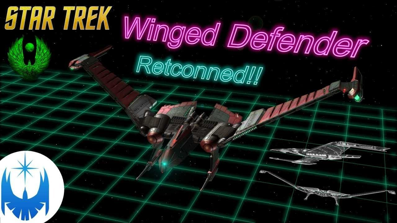 The Wicked Winged Defender! Retconned Romulan Cruiser!