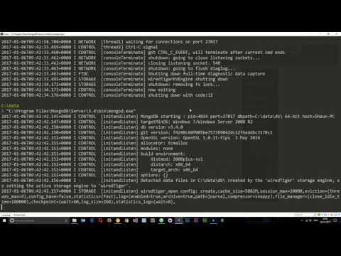 MongoDB Tutorial #2 - Installing MongoDB Locally