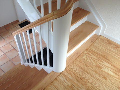 Häufig Treppe renovieren, abschleifen und lackieren in NRW - YouTube PK74