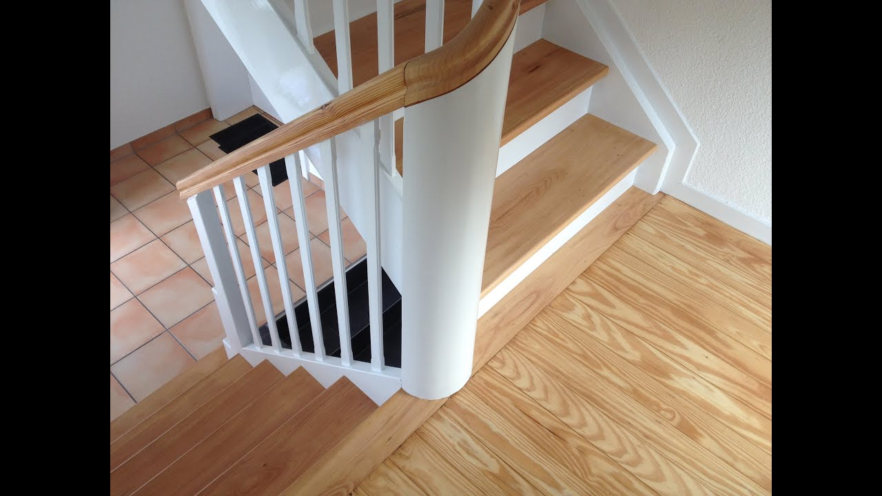 Treppe renovieren, abschleifen und lackieren in NRW