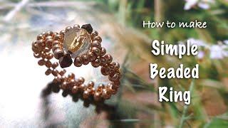 Simple Beaded Ring | Beaded Je…
