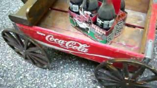 Coca-cola Crate Wagon Vintage Hand Made Coke Collectible