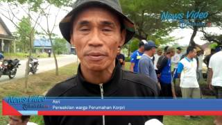 VIDEO Warga Bongkar Patok Perusahan Daerah