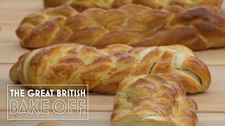 Mary Berry & Paul Hollywood judge the plaited loaves / The Great British Bake Off