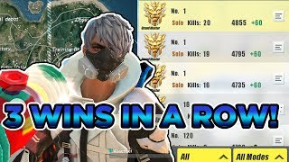 ROS: (50+ kills) I won 3 times in a row! - Rules of Survival