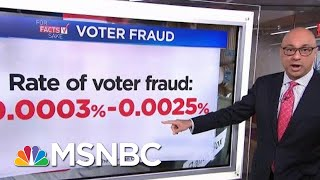 For Fact's Sake: President Donald Trump Is Wrong About Voter Fraud   Velshi & Ruhle   MSNBC