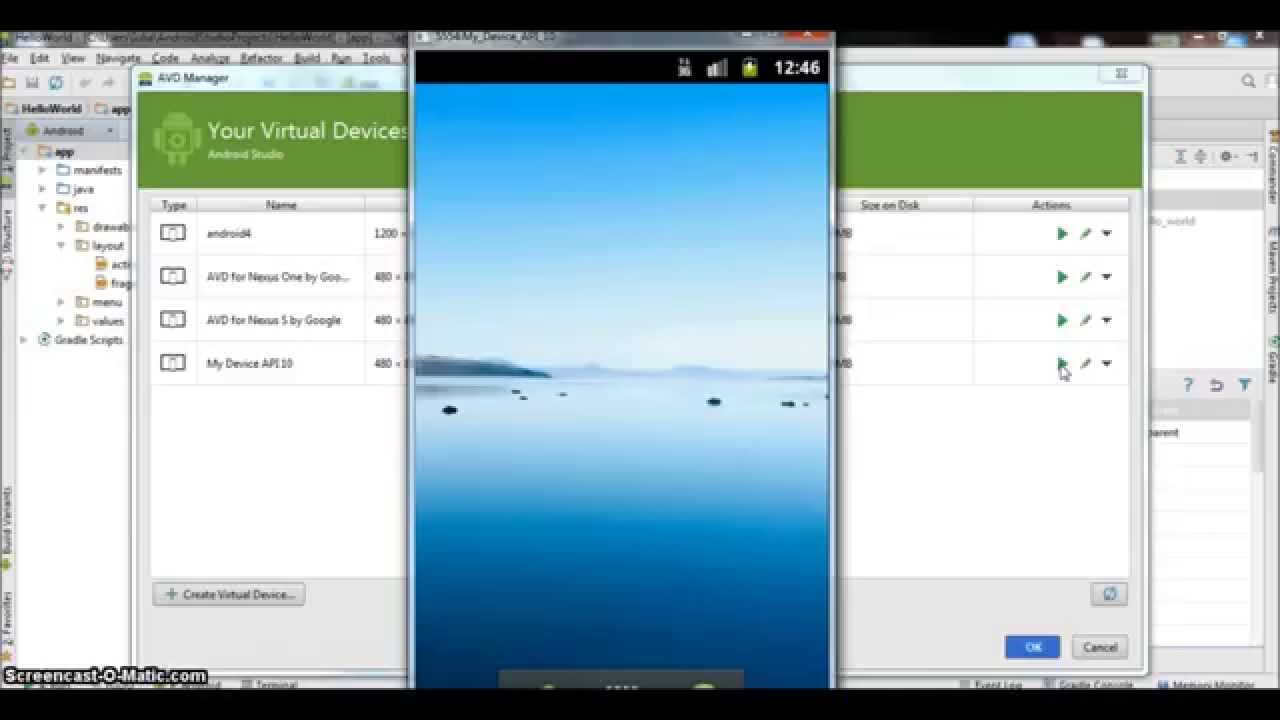 Android tutorials: Create your Emulator in Android Studio