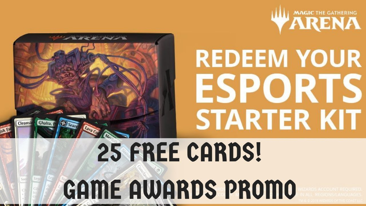 MTG Arena | 25 FREE CARDS! Esports Starter Kit - Game Awards Promo!