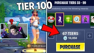 BUYING TIER 100 BATTLE PASS in SEASON 6! (Fortnite Battle Royale)