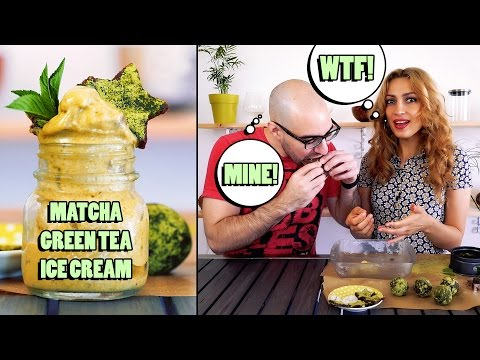 Matcha Green Tea Ice Cream – Raw Vegan Recipe