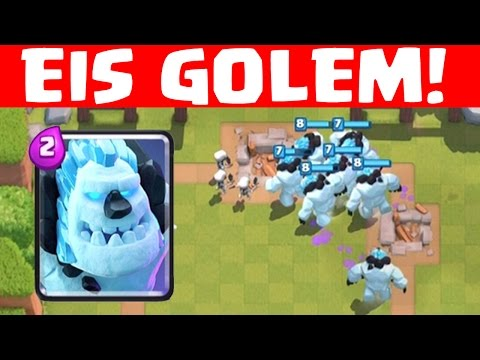 EIS GOLEM GAMEPLAY! || CLASH ROYALE || Let's Play CR [Deutsch/German HD+]