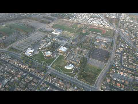 Oxnard College, (oxnard California) aerial view.