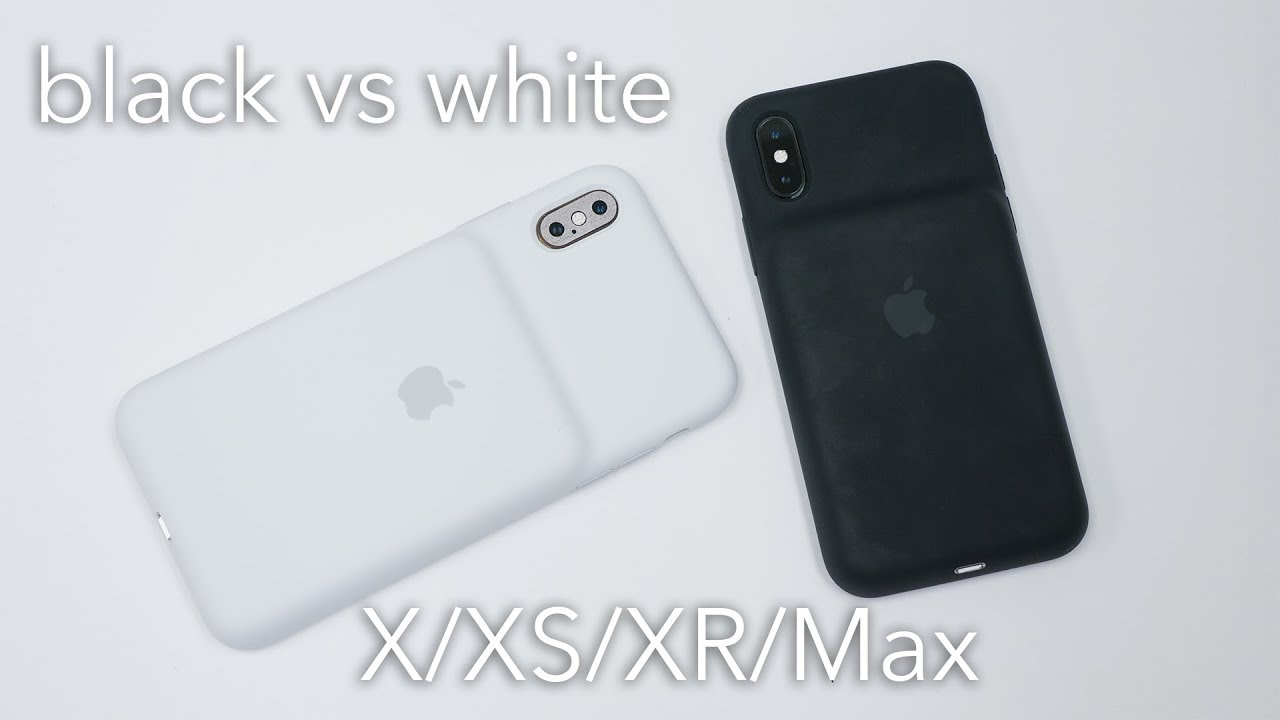 promo code 30270 be4c9 iPhone XS/Max/XR Battery Case: White vs Black Unboxing